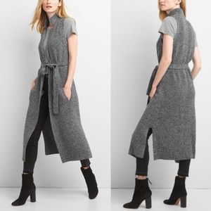 Gap Merino Notch Collar Duster Vest Gray Size XL